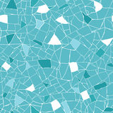 Blue and white mosaic texture seamless pattern Royalty Free Stock Photos