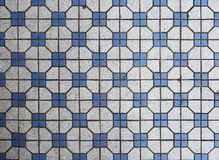Blue and white mosaic tiles Royalty Free Stock Images