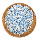 Blue and White Muisjes Royalty Free Stock Photo