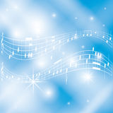 Blue and white musical background - vector Stock Photo