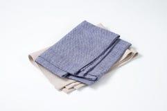 Blue and white napkins Royalty Free Stock Photos