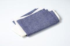 Blue and white napkins Stock Image