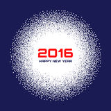 Blue- White New Year 2016  Snow Flake Background. Vector illustration Royalty Free Stock Photography