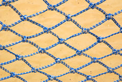 Blue and white nylon net Royalty Free Stock Photography