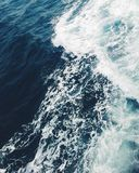 Blue and White Ocean Royalty Free Stock Photography