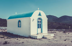 Blue and white orthodox chapel Royalty Free Stock Photos