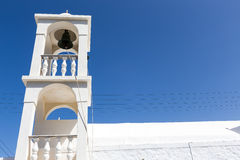 Blue White orthodox church at Firopotamos, Milos island, Cyclade Royalty Free Stock Image