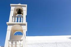 Blue White orthodox church at Firopotamos, Milos island, Cyclade Royalty Free Stock Image