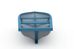 Blue and white painted boat Stock Photos