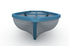 Blue and white painted boat Stock Photography