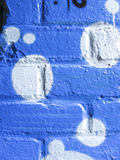 Blue and white painted wall Stock Photo