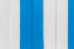 Blue and white painted wooden wall Stock Image