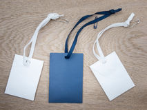Blue and white paper envelopes with ribbons Stock Images