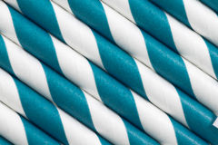 Blue white paper straw background Royalty Free Stock Photography