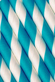 Blue and white paper straw background Stock Photo