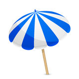 Blue and white parasol Royalty Free Stock Image