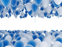 Blue and white party balloons Royalty Free Stock Photography
