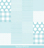 Blue and white pattern Royalty Free Stock Image