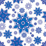 Blue and white pattern Stock Photography