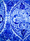 Blue and white pattern on ceramic Royalty Free Stock Image