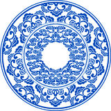 Blue and white pattern Stock Photo