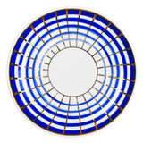 Blue & white persian style plate Royalty Free Stock Photography