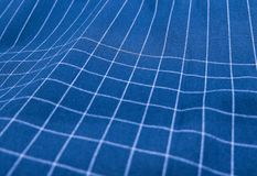 Blue and White Plaid Fabric Pattern Background Royalty Free Stock Image