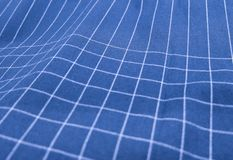 Blue and White Plaid Fabric Pattern Background Stock Photo