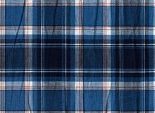 Blue and white plaid fabric texture royalty free stock images