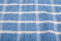 Blue and White Plaid Towel Royalty Free Stock Photos
