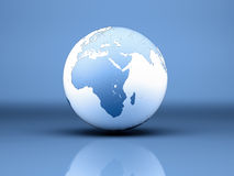 Blue and white Planet Earth Stock Photo
