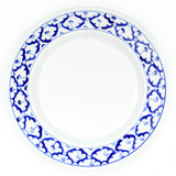 Blue and white plate pineapple pattern traditional style Stock Photography