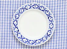 Blue and white plate pineapple pattern traditional style Royalty Free Stock Image