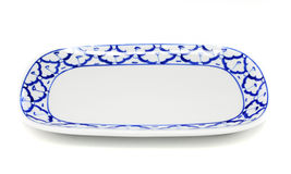 Blue and white plate pineapple pattern traditional style Royalty Free Stock Images