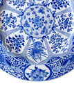 Blue And White Platter Royalty Free Stock Photos