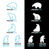Blue white Polar bear logo vector design Royalty Free Stock Photo