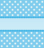 Blue Polka Dot Background stock illustration