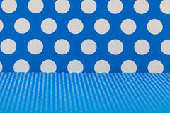 Blue and white polka dots Royalty Free Stock Photography