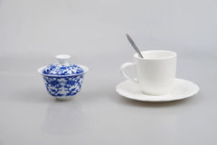 Blue and white porcelain, coffee mug cup Royalty Free Stock Photos