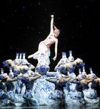 Blue and white porcelain-Sacrifice. China art Jiangxi branch of Career Academy graduation dance performance Stock Image