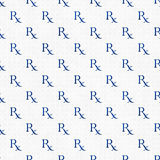 Blue and White Prescription symbol Pattern Repeat Background Stock Image