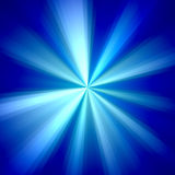 Blue and White Rays Background. 2D rendered image with blue rays effect Royalty Free Stock Image