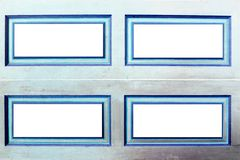 Blue and white rectangle frame Royalty Free Stock Photo