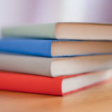Blue White Red and Green Books Royalty Free Stock Photography