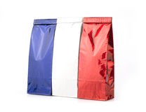 Blue, white and red packages Stock Image