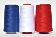 Blue, white and red thread Stock Photo