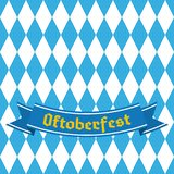 Blue and white rhombus repetitive background. Germany beer festival. Vector design template for greeting cards, invitation, advertising banners, etc vector illustration