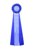 Blue and white ribbon for award or prize Stock Photo