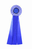 Blue and white ribbon for award or prize Stock Image
