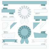 Blue and white ribbons Royalty Free Stock Photo